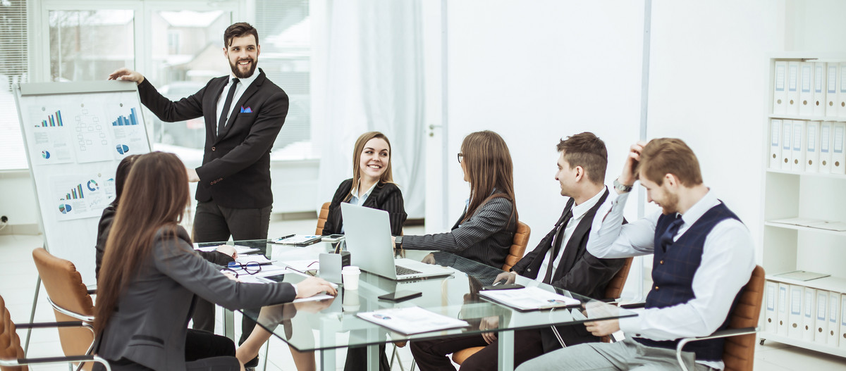 business team discussing at a workplace