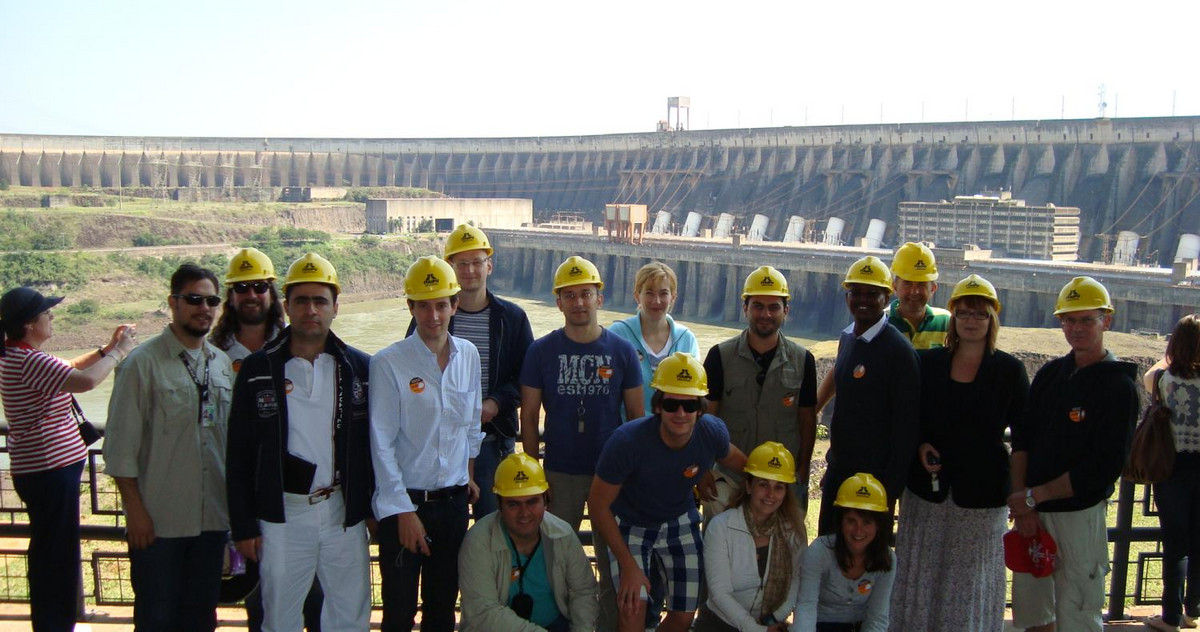 Grouppicture at the power station