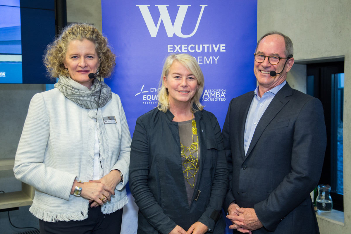 From left to right: Barbara Stöttinger, Dean, Edeltraud Hanappi-Egger, Rector of WU Vienna and Roger Martin, Director of the Martin Prosperity Institute