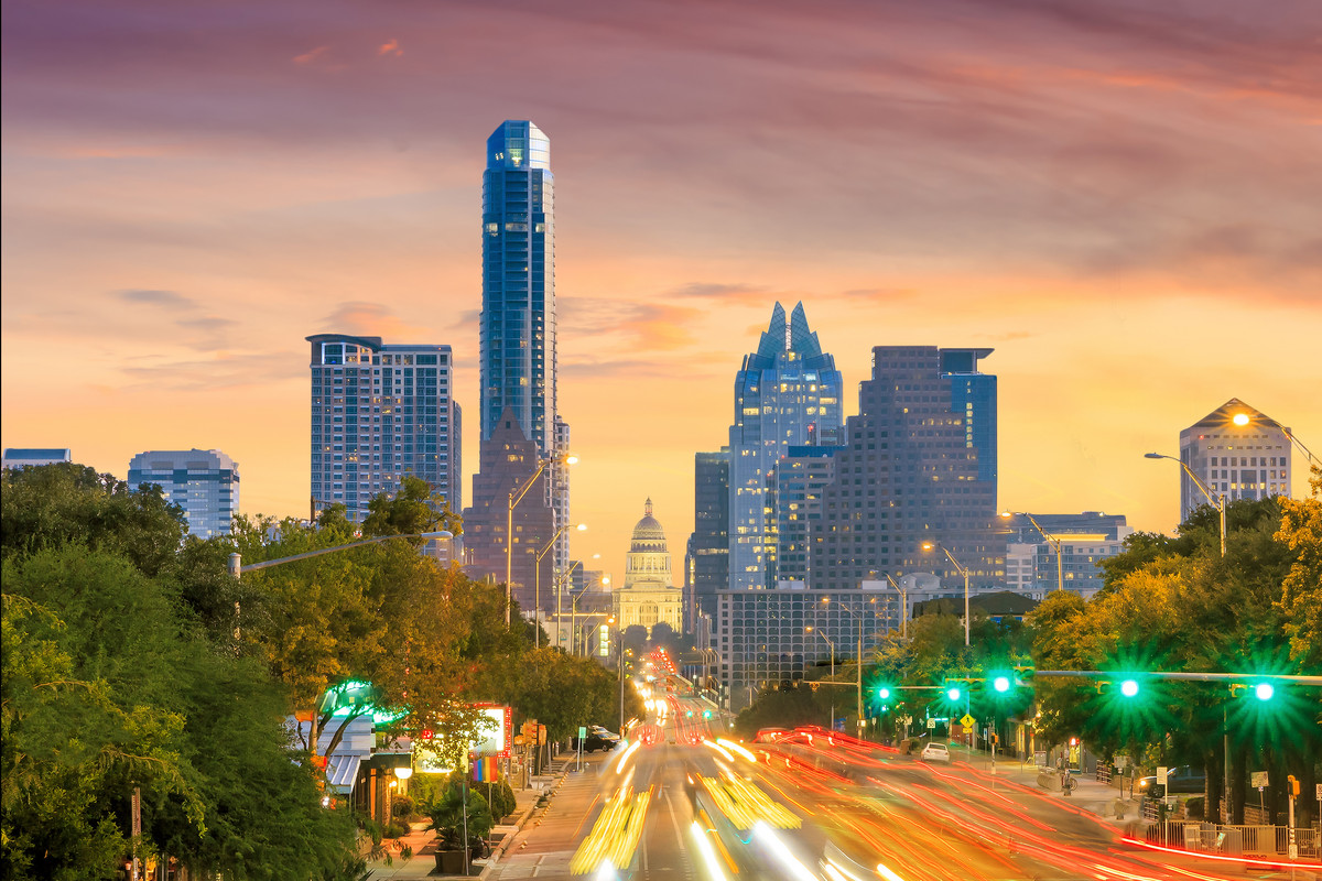 A view of the city skyline, Austin, Texas