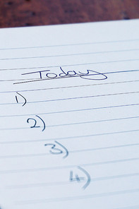 Picture of a to-do-list in a notebook