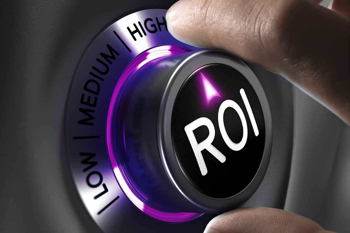 Picture of a knob that says ROI