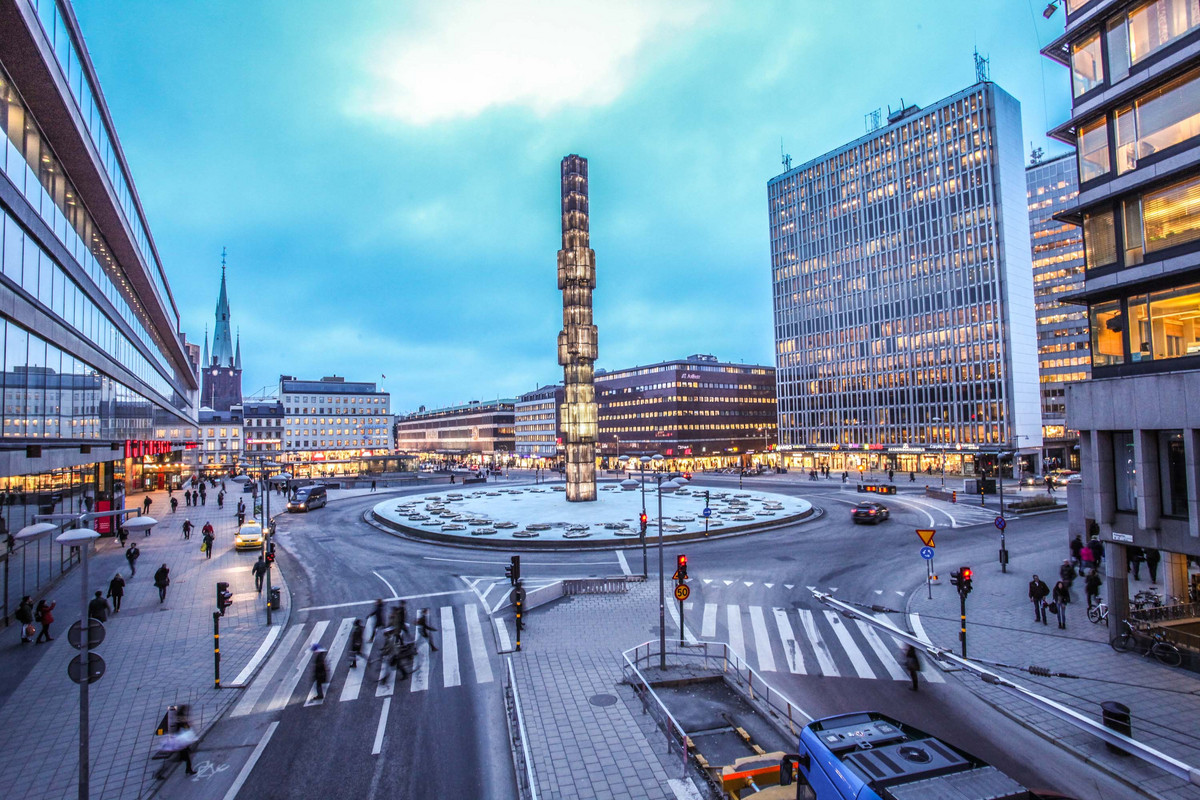 A view of the Sergels Torg in Stockholm