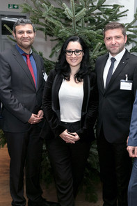 3 students at the Executive MBA Bucharest Welcome Reception 2016