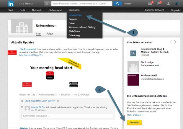 LinkedIn Newsletter Tipp: Unternehmensprofile - WU Executive Academy